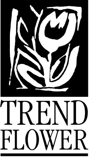 Trend Flower logo met tekst