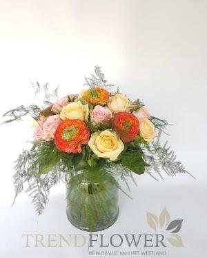Romantisch gemixte rozen